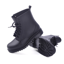 2017 Classic Women Rain Boots Rubber Lace Up Womens Ankle Boots Waterproof Casual Comfort Ladies Martin Boots Shoes