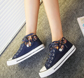 2015 Four Seasons Floral canvas shoes flat canvas shoes to help low student shoes women shoes, free postage