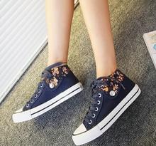 2015 quatre saisons Floral toile chaussures plates chaussures de toile pour aider les étudiants à faible chaussures femmes chaussures, Frais de port gratuit