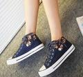 Quatro estações sapatos de lona Floral sapatos sapatos de lona sapatos para ajudar baixo, Selos