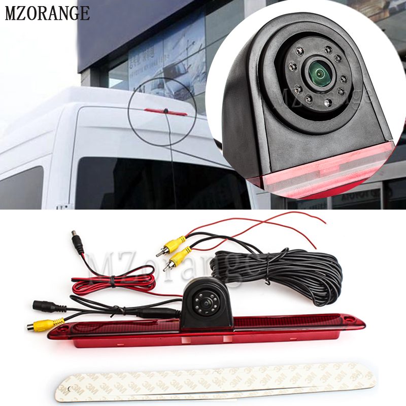 MZORANGE Car CCD Rear Parking Reverse Camera Additonal Brake Light for Mercedes benz W906 For Sprinter