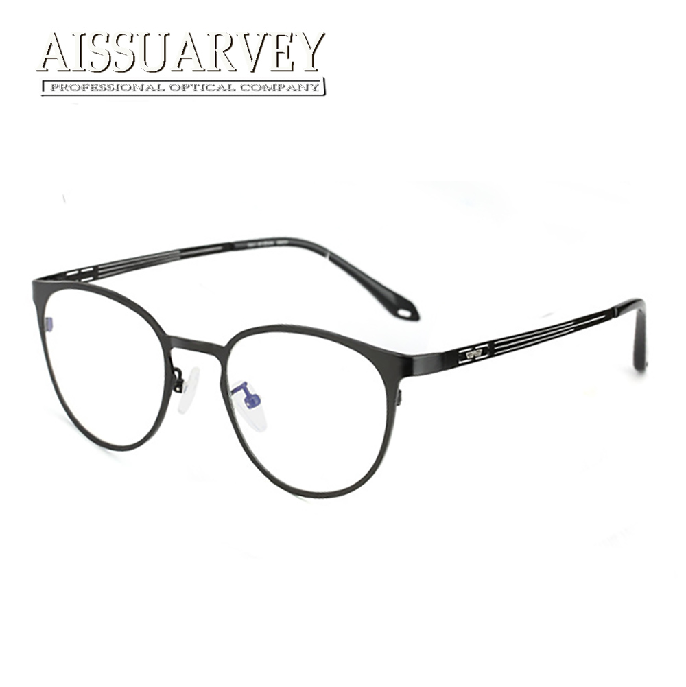 aaa980640a2ac Pure Titanium Eyeglasses Frames for Men Women Optical Vintage Round Glasses  Frames Reading Eye Wear Computer Goggles with Clear-in Eyewear Frames from  ...