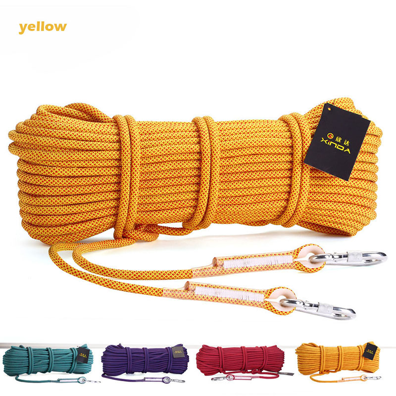 Professional 10M Strong Rock Climbing Rope 10.5mm Diameter 2.5KN High Strength Safe Cord Outdoor Hiking Rescue Rope Accessories