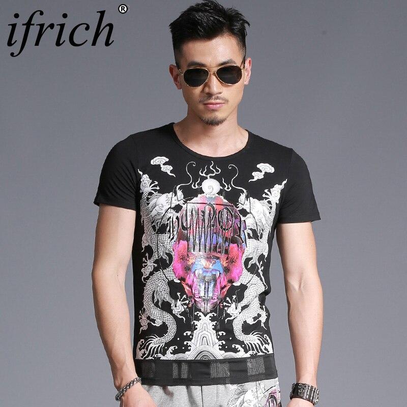 Hip Hop T shirts Men's Creative Design Summer Tee Shirts Casual Streetwear Cotton Tops Funny Adult T Shirts Men Black Streetwear