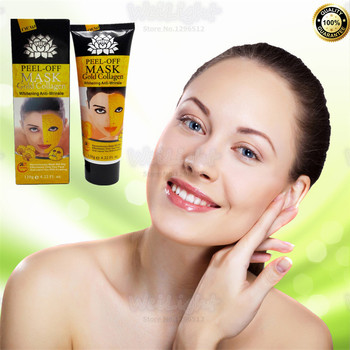Gold Mask Collagen whitening skin Facial mask Peel off Skin Whitening Anti wrinkle Anti Aging high-quality face pack 120g peel off facial mask