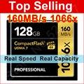 160 MB/S marca 1066x128 gb tarjeta de memoria cf compact flash para canon nikon DSLR Cámara Videocámara HD 1080 p 3D 4 K de Vídeo DV DV Dispositivo