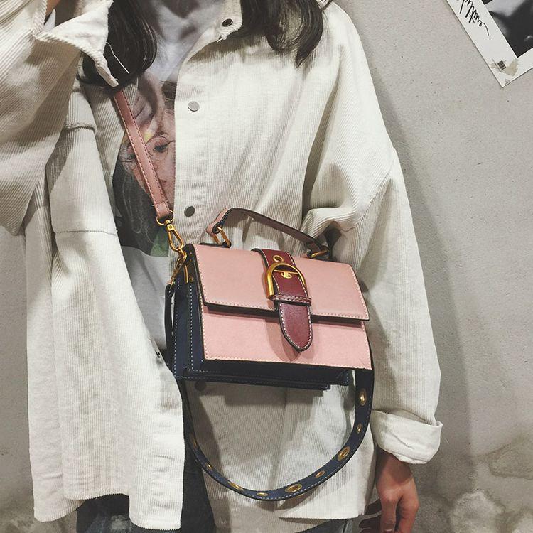 Bags for Women 2018 Fashion New Quality PU Leather Women bag Hit color Portable Shoulder Messenger Bag Travel Tote Crossbody bag стоимость