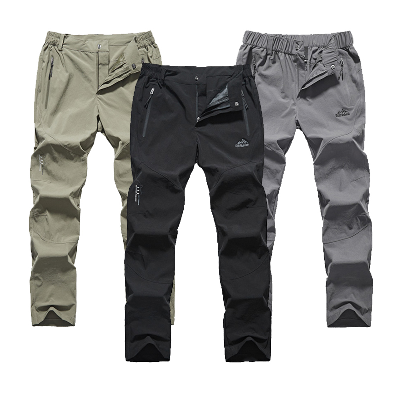 LXIAO Quick Dry Waterproof Hiking Pants Men Summer Breathable Outdoor Climbing Trousers Trekking Pants Pantalon Hombre Trekking in Hiking Pants from Sports Entertainment