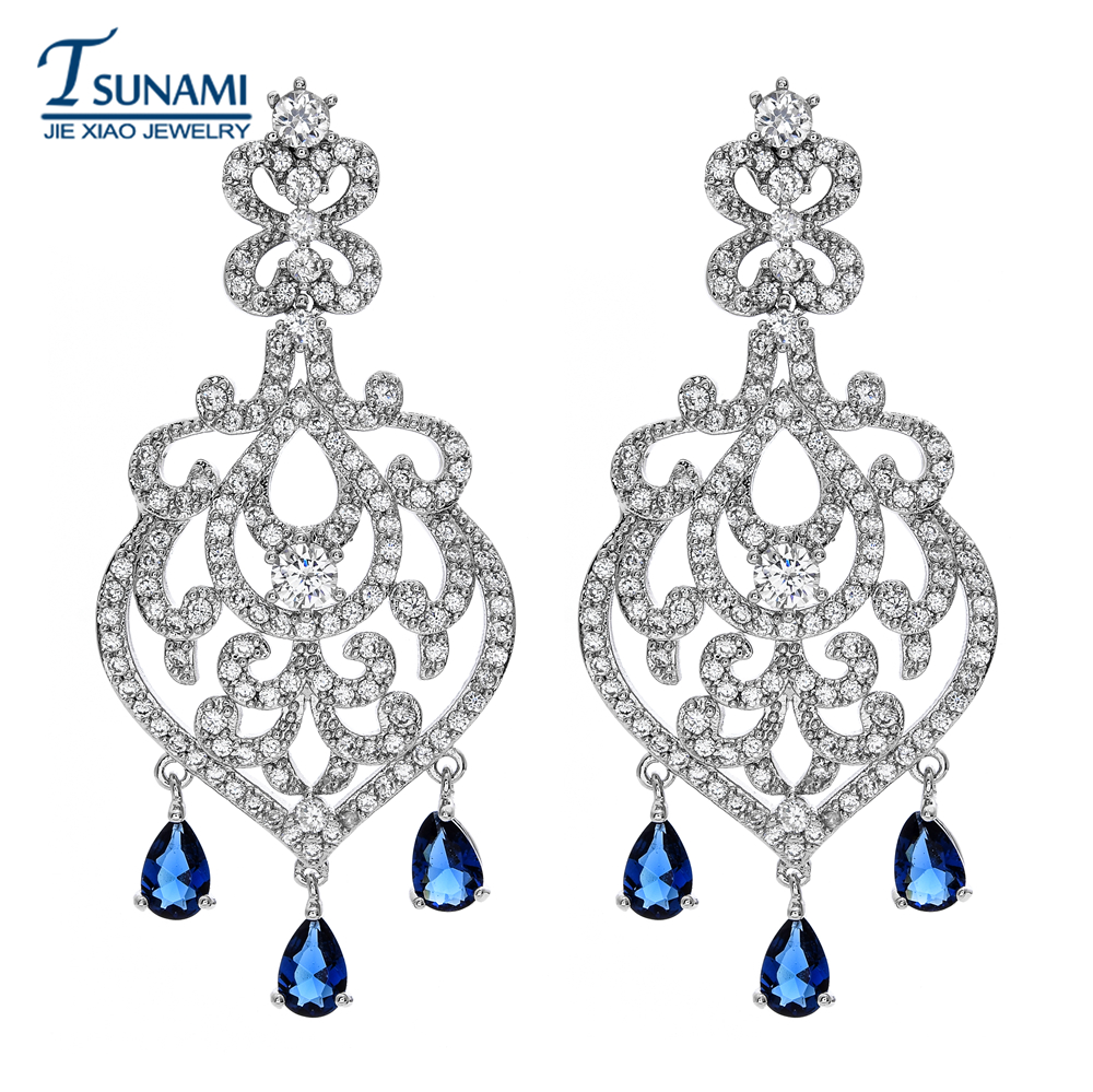 High quality four - colored drop of zircon earrings Wedding jewellery for girls ER-118