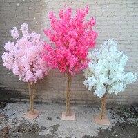 Новые искусственные вишневые цветы дерево Моделирование макет персика желая деревья для домашнего декора и свадебные украшения