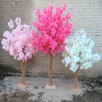 New Artificial Cherry Flowers Tree Simulation Fake Peach Wishing Trees for Home Decor and Wedding Centerpieces Decorations