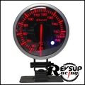 1 Year Warranty 60mm White/Red Back Light Defi BF Auto Oil Temp Gauge