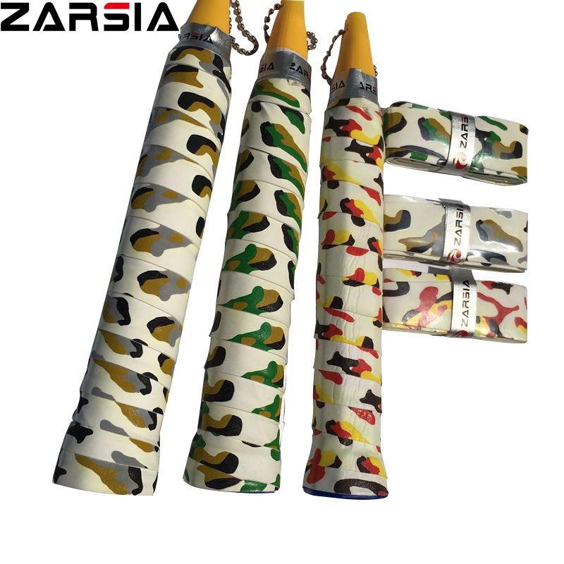60 pcs ZARSIA Sticky thin 0.60mm PU Camouflage tennis overgrip,tacky Feel badminton racket over grip fishing rod grips