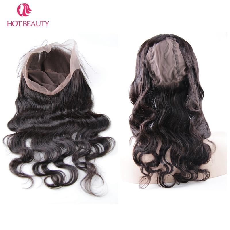 Hot Beauty Hair Brazilian Remy Hair test hullám 360 csipke - Emberi haj (fekete) - Fénykép 5