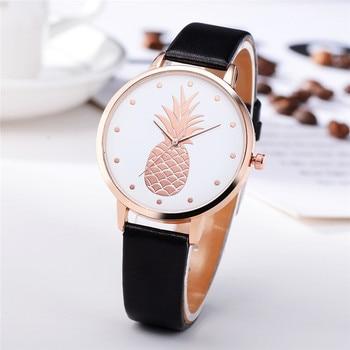 Luxury Women Fashion Leather Band Analog Quartz Round Wrist Watch