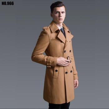 2020 new autumn Double breasted wool coat men fit slim mens kha coat woolen fashion casual coats cashmere plus size S - 6XL
