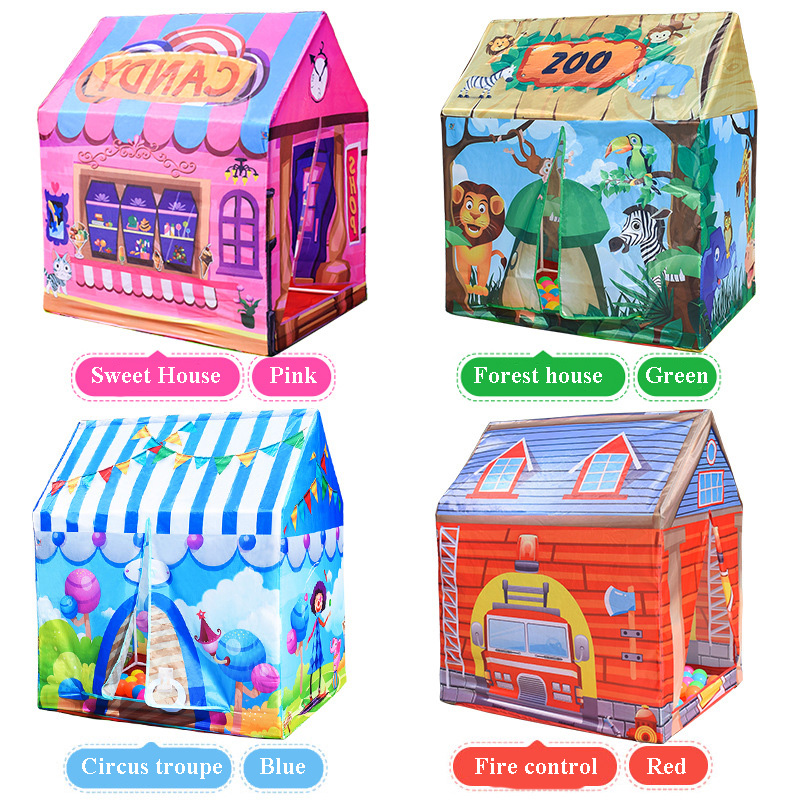 4 Colors Children Game Toy Tents Children Folding Play House Portable Outdoor Indoor Toy ...