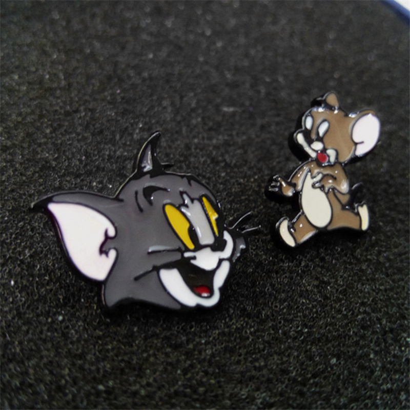 W2845 Hot Sale Classic Cartoon Anime Cute Cat og Mouse Asymmetri - Mode smykker - Foto 4