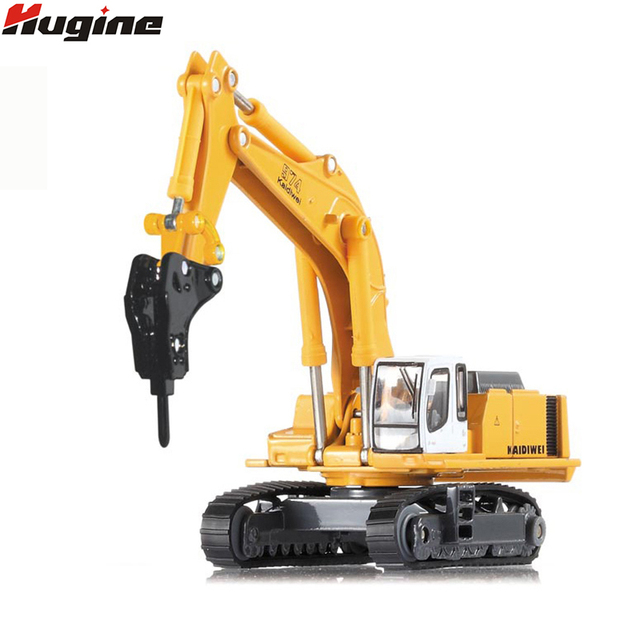 Alloy Diecast Caterpillar Excavator/Drilling Machine/Material Handler 1:87 Model with Rotates 360 Degrees On Chassis Kids Toys