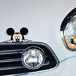 Image 5 - おかしいミッキーマウス車のステッカーカットのぞきカバーかわいい漫画カラフルな人格ファッションステッカー窓と車のテール