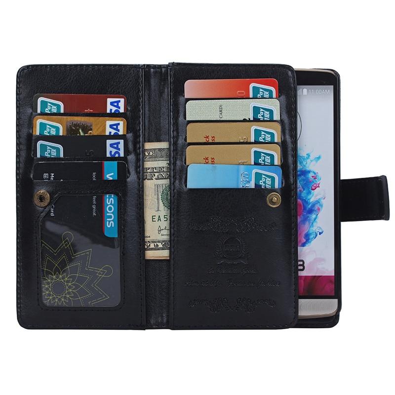 Цена за 2 в 1 съемный кожаный бумажник флип чехол для LG G4 G5 чехол для LG G3 D858 D859 D855 держателей карт и фоторамка