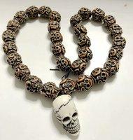 FREE SHIPPING yqtdmy handmade New Gothic Demon Skull Vintage Big Heavy Evil Necklace