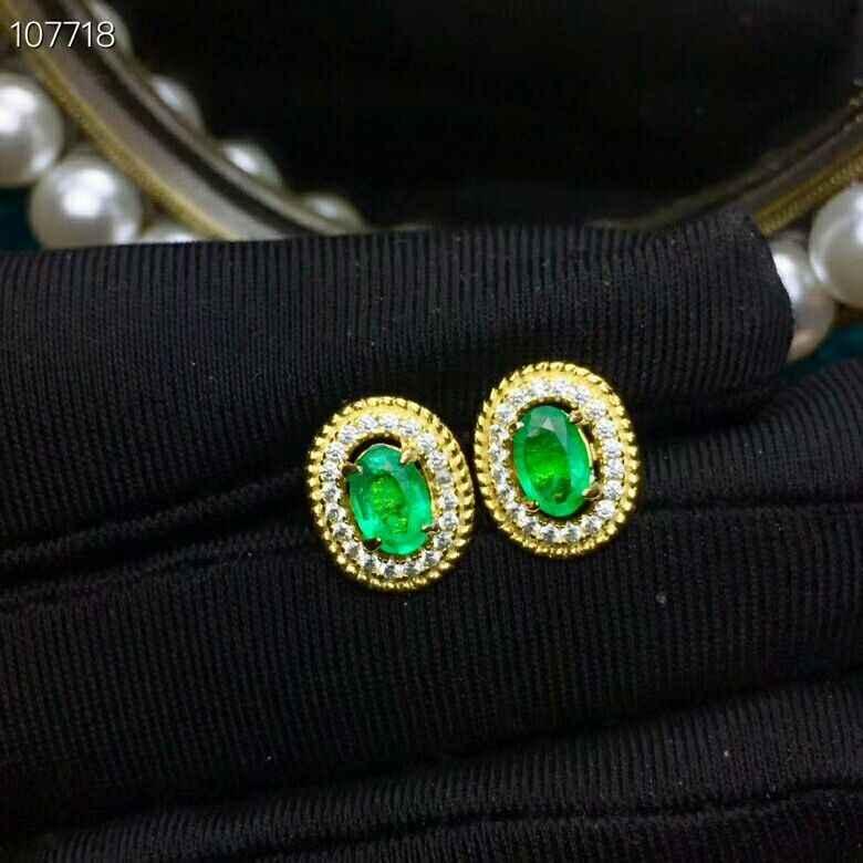 MeiBaPJ ธรรมชาติ Columbia Emerald เครื่องประดับอัญมณีชุดจริง 925 เงินสเตอร์ลิงหินสีเขียวนาฬิกาทรายเครื่องประดับสำหรับผู้หญิง