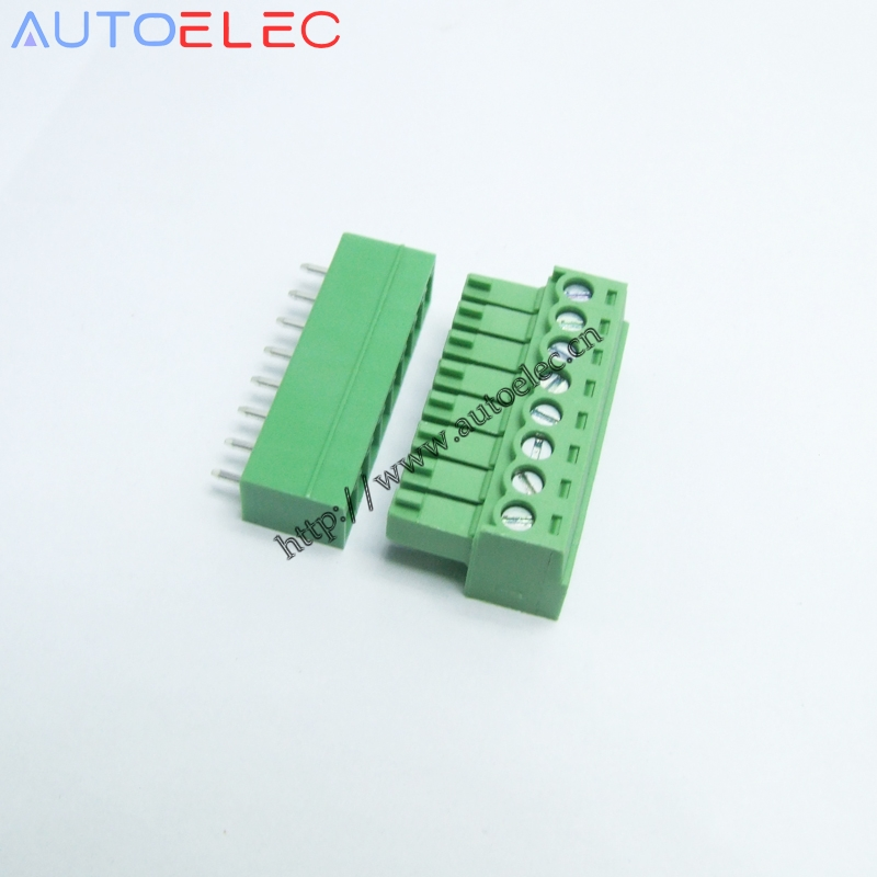 8 Pack Terminal 3pin Plug w// Wire Restraint 5.08mm // Phoenix Connector
