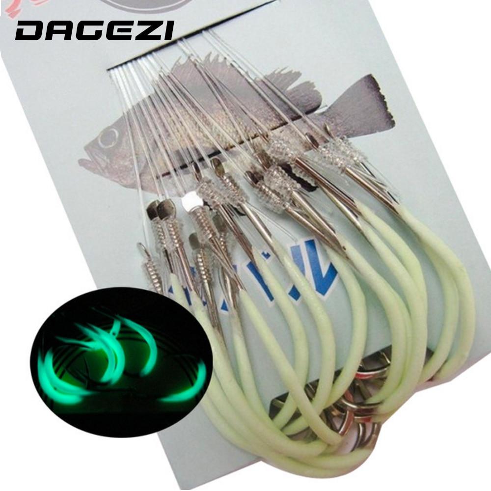 DAGEZI 30 unids/pack Luminoso Gancho De Pesca 12-18 # Ganchos de Pesca Tackle Ac