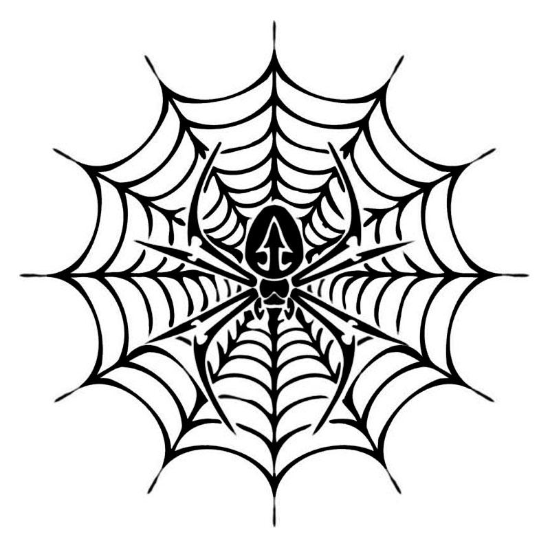 14*14CM Spider In The Web Car Styling Personality Car Sticker Motorcycle Decorative Decal Black/Silver C9-1899 in win ear007 450w black silver