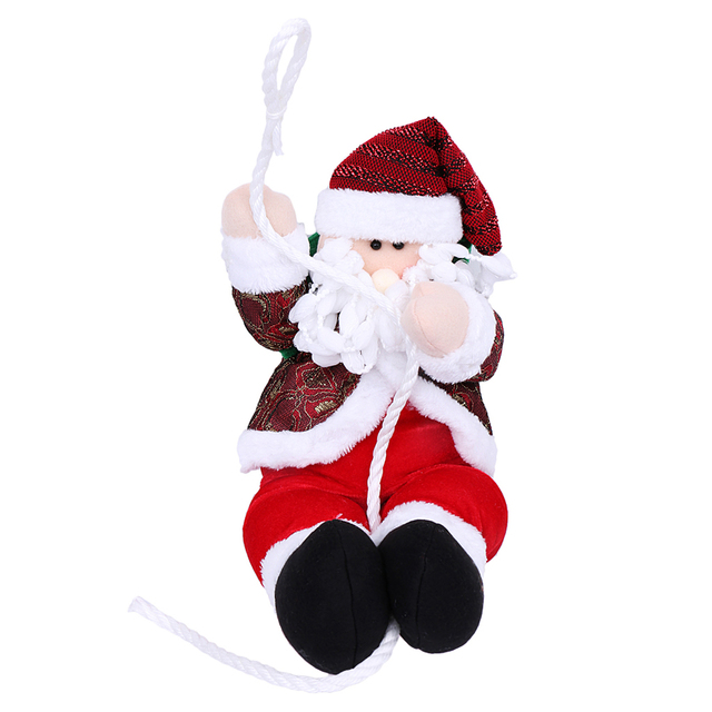 unisex xmas christmas toy animated santa claus climbing rope moving arms best gift for kid children