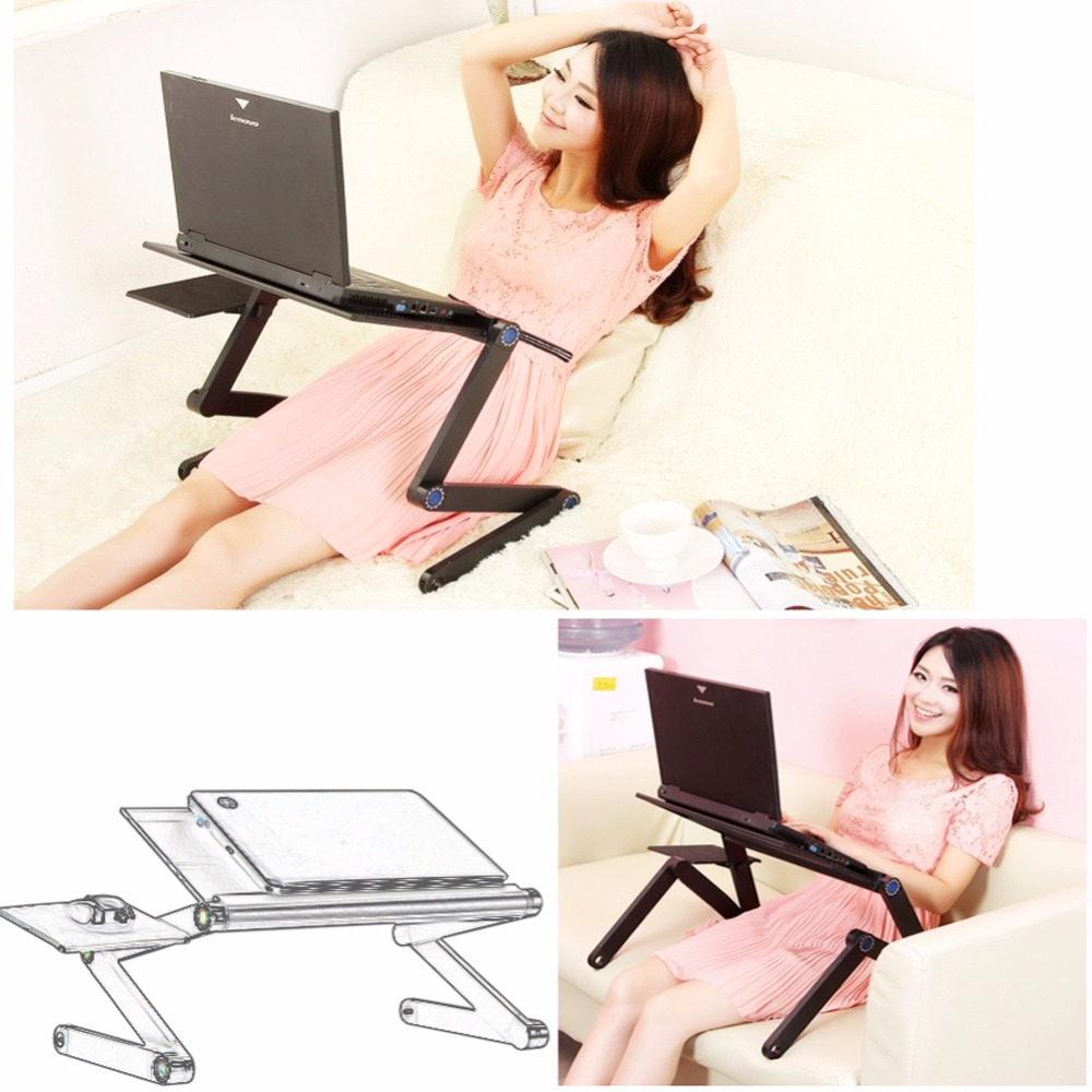 1 Pc/Pack Solid Durable Adjustable Foldable Lapdesk With Air Hole For Office And Home