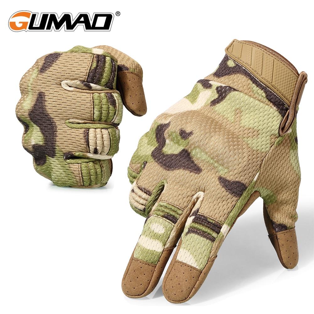 Touchscreen Multicam Camouflage Taktische Handschuhe Armee Military Airsoft Outdoor Klettern Schießen Paintball Volle Finger Handschuhe