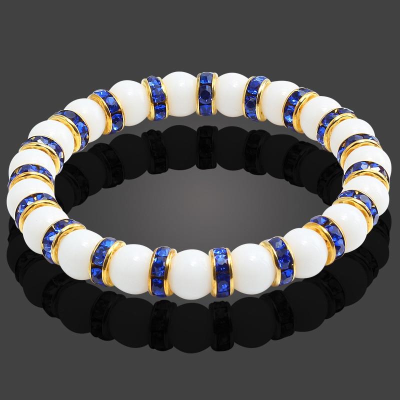 11 Style Natural Stone Chakra Elastic Bracelet Men White  Porcelain Healing Balance Beads Reiki Buddha Prayer Bracelet For  WomenStrand Bracelets