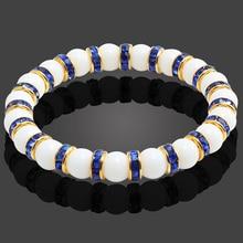 Bracelet élastique en pierre naturelle pour hommes et femmes, 11 styles, perles déquilibre de guérison, en porcelaine blanche, Reiki, Bracelet de prière de bouddha pour femmes