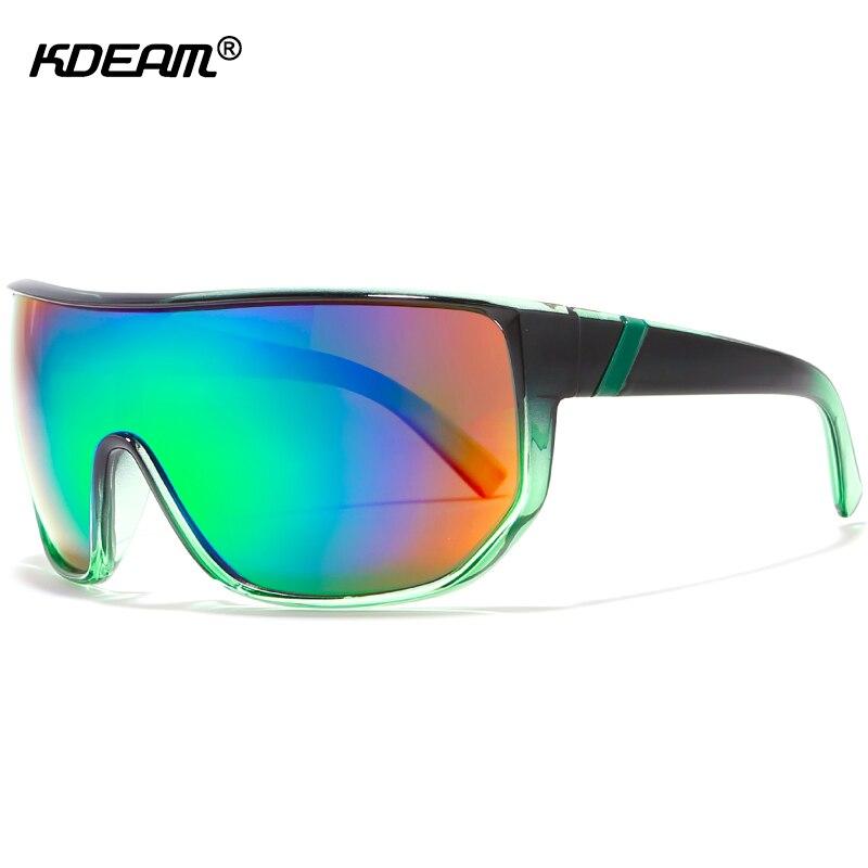 ee6dbdfbf0 KDEAM One-piece Men Sunglasses Steampunk Goggles Impact-resistant Lens Big  Size Sun Glasses