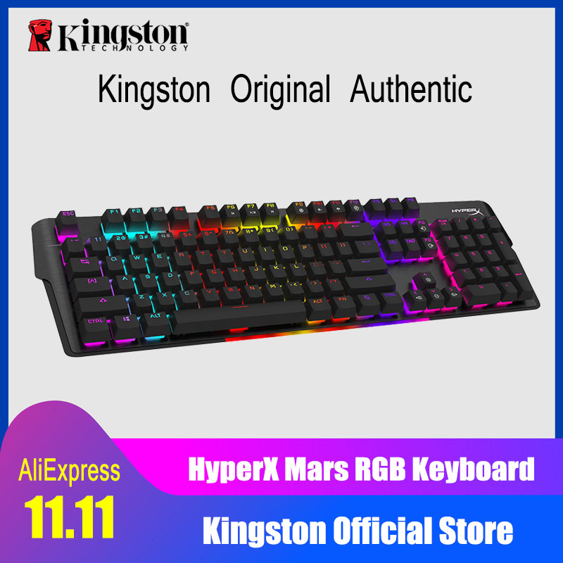 KINGSTON HyperX Mars RGB Mechanical Gaming Keyboard Adjustable key background color and brightness E-sports keyboard