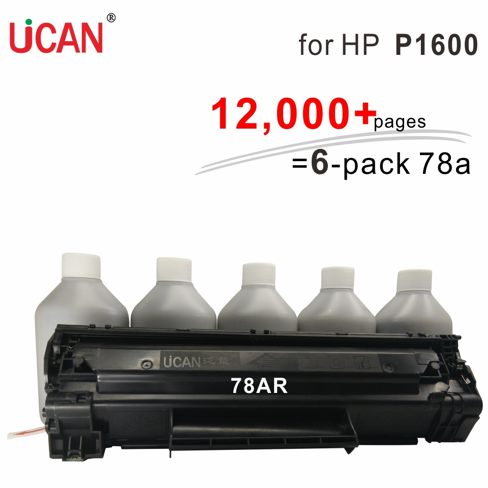 for HP LaserJet Pro 1600 P1600 UCAN 78AR CTSC(kit)  12000 pages equivalent to 6-pack 278A Toner Cartridges hp laserjet pro p1102w connect to network