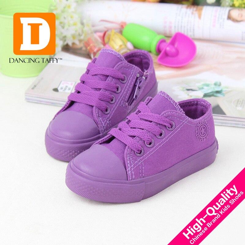 Solid Kids Shoes 6 Farver Børn Sko Drenge Piger 2019 Brand Fashion Canvas stof Sneakers Casual Board Børne Sneakers