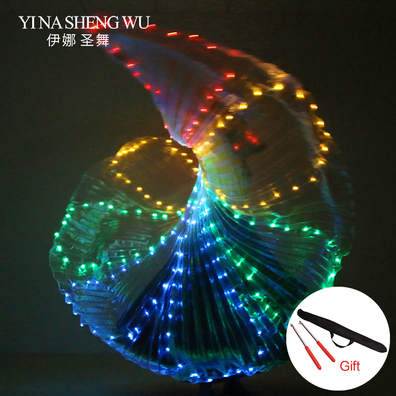White Colorful Stage Performance Prop LED Wings Belly Dance Accessories Girls LED Wings Costume LED Butterfly