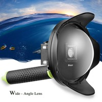 SHOOT 6 inch Diving Dome Port for Xiaomi Yi 4K 4K+ Lite Camera with Waterproof Case Float Grip Dome Lens for Xiaomi Yi Accessory