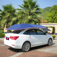 Wnnideo Semi Automatic Car Tent Cover Portable Folded Sun Shade Canopy Umbrella Shelter Car Sun Shelter