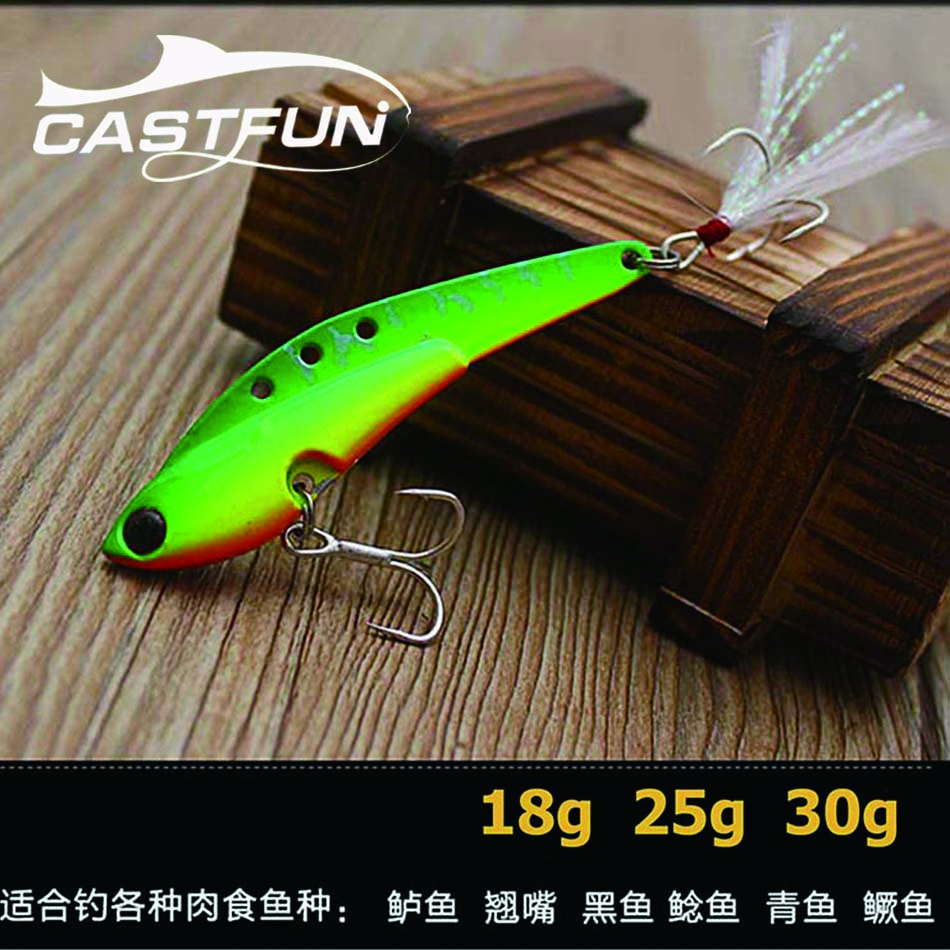 Free Shipping 5pcs/lot 75mm 18g 25g 30g  Lead VIBE Lures Sinking Fishing VIB Lure 9 Colors sealurer 5pcs fishing sinking vib lure 11g 7cm vibration vibe rattle hooks baits crankbaits 5 colors free shipping