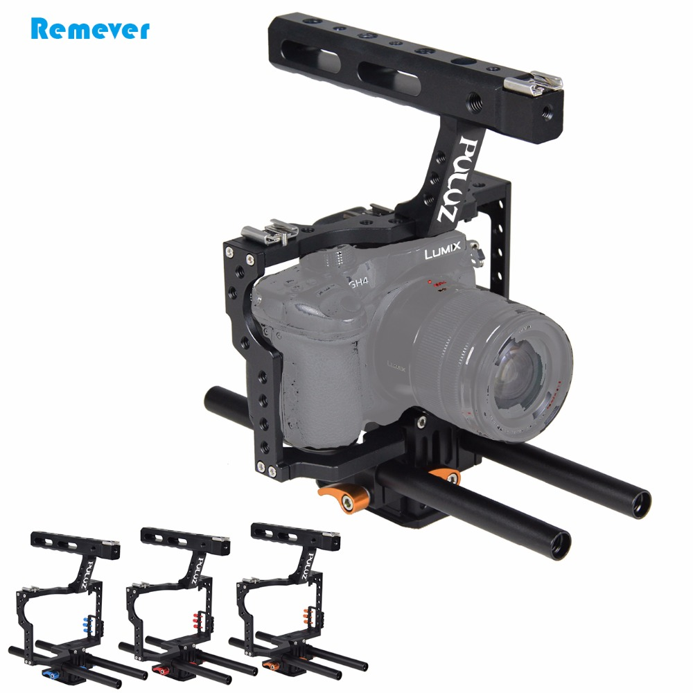 New Arrival Portable Camera Cage Steadicam kit DSLR Handle Stabilizer for Sony A7 A7S A7R A7R II A7S II DSLR