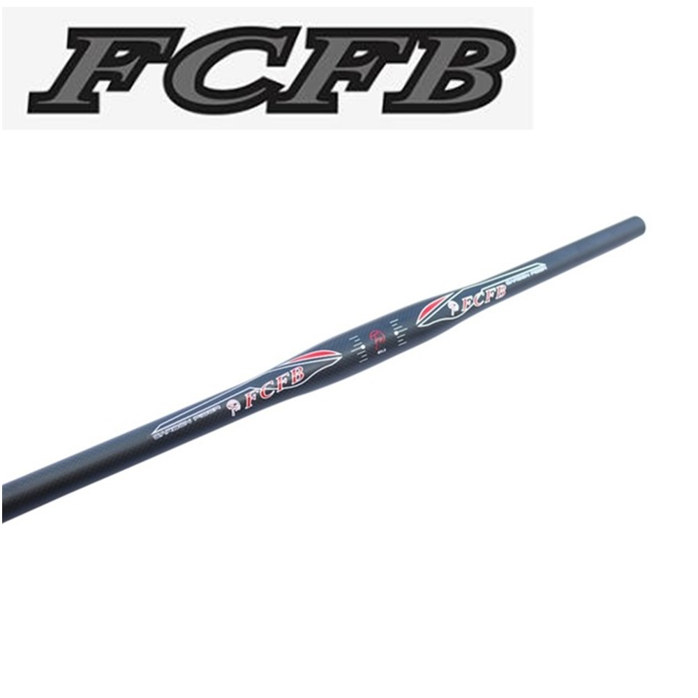 FCFB FW 3K flat handelbar moutain handlebar  matt bar+glossy Sticker 31.8*620/660/700MM   Extreme sports future brand from taiwan full carbon fiber flat riser handlebar mtb use 3k finish 31 8 600 620 640 660 680 700mm