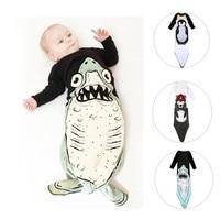 Boy Girl Newborn Baby Sleeping Bag Penguins/shark Style Winter Bed Swaddle Blanket Wrap Bedding Air Conditioning Anti Kick #