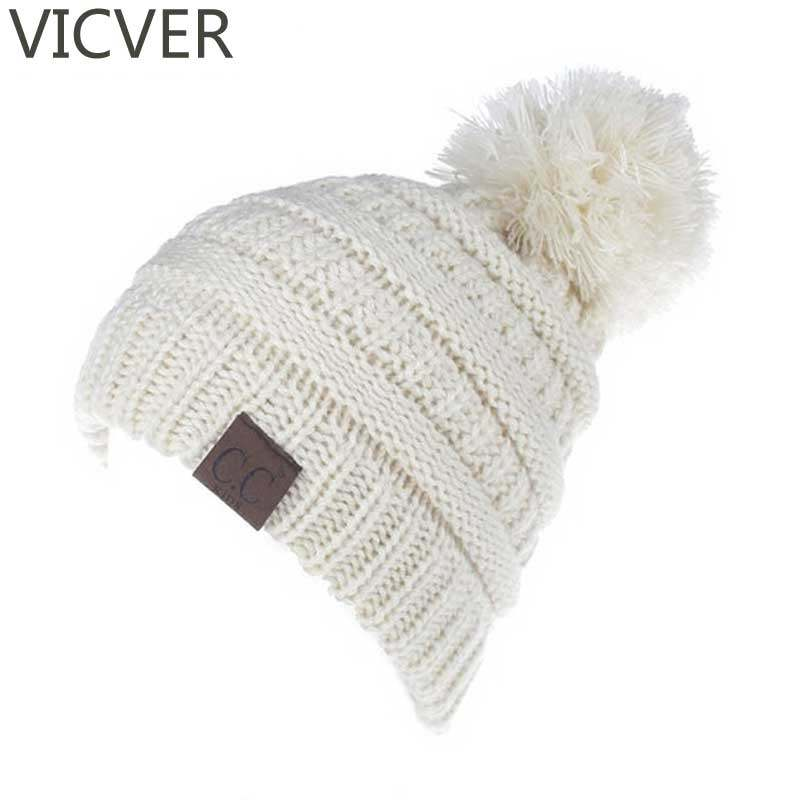 Online Shop Women Winter Beanies Men/Female Hat 2017 Hot Europe CC ...