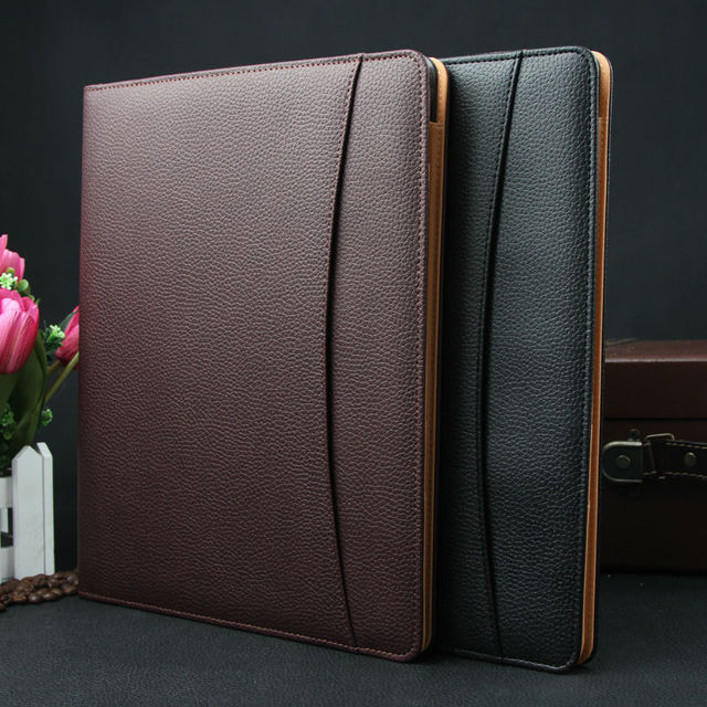 A4 leather business conference file bill manager folder portfolio signature agreement padfolio document organizer notepad 479A