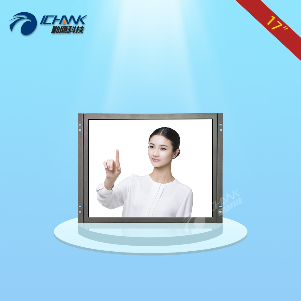 ZK170TC-V59/17 inch 1280x1024 4:3 HDMI Metal Shell Embedded&Open Frame&Wall-mounted Industrial Touch Monitor LCD Screen Display zk080tn 705 8 inch 1024x768 4 3 metal case vga signal open wall hanging embedded frame industrial monitor lcd screen display
