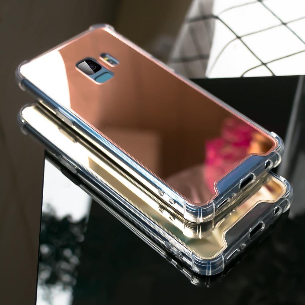 Image 3 - CASEIER Luxury Mirror Cases For Samsung Galaxy S7 S8 S9 S10 Glitter Mirror Back Case For Samsung S10 S10 Plus S10E Cover Funda-in Подходящие чехлы from Мобильные телефоны и телекоммуникации
